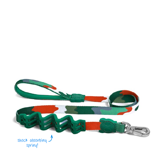 [EXCLUSIVE 25% OFF] Zee.Dog Camo Ruff Shock Absorbent Leash - Dogs, Leashes, RUFF, Walking, Zee.Dog - Shop Vanillapup - Online Pet Shop