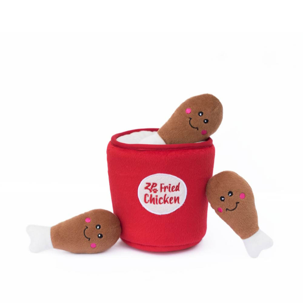 ZippyPaws Fried Chicken Bucket Burrow Toy - Dogs, Interactive, Toys, ZippyPaws - Shop Vanillapup - Online Pet Shop