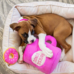 ZippyPaws Coffee and Donutz Burrow Toy - Dogs, Interactive, PINK, Toys, ZippyPaws - Vanillapup - Online Pet Shop
