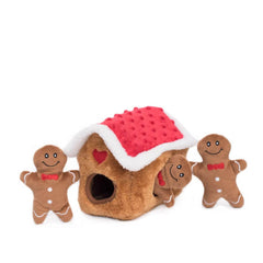 ZippyPaws Gingerbread House Burrow Toy