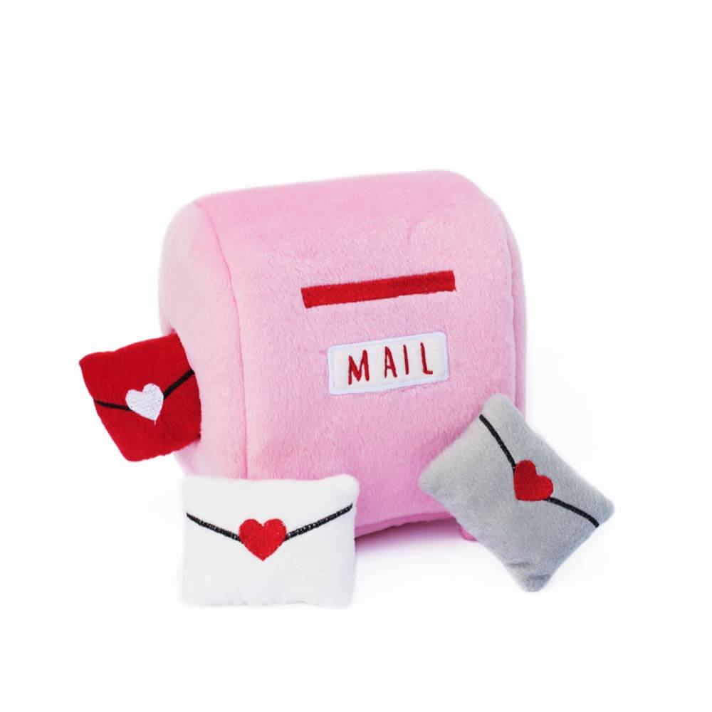 ZippyPaws Mailbox and Love Letters Burrow Toy - Shop Vanillapup Online Pet Shop