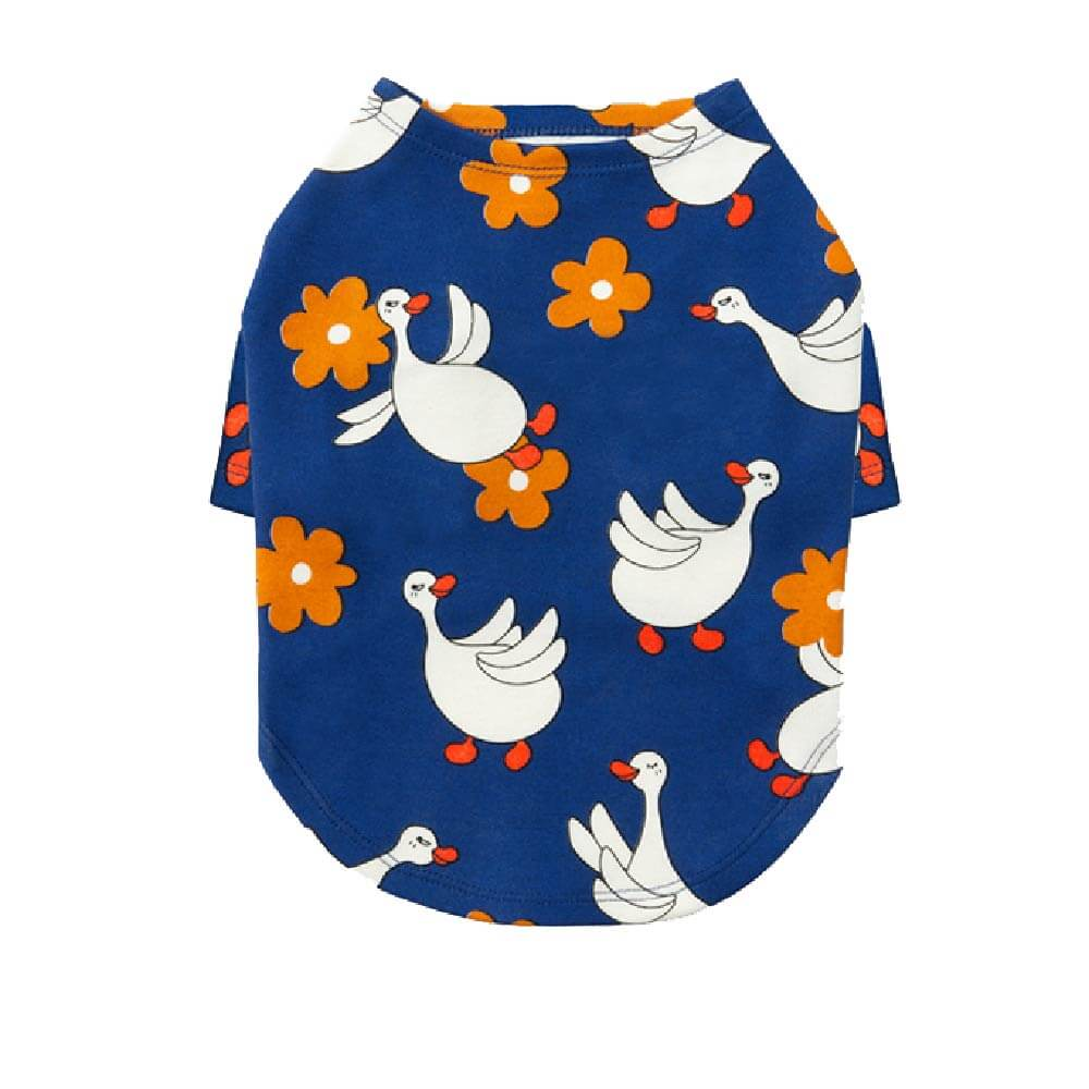 andblank® Flying Duck Short Sleeve | Royal Blue - andblank, Apparel, Dogs, New - Vanillapup - Online Pet Shop