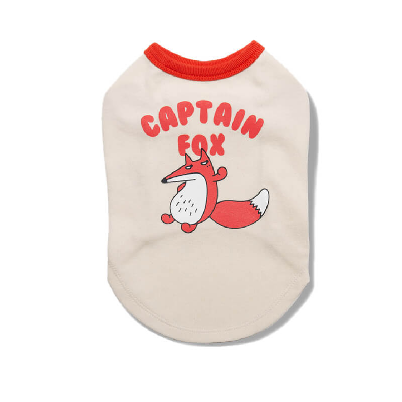 andblank® Captain Fox Sleeveless Shirt - andblank, Apparel, Dogs, New - Vanillapup - Online Pet Shop