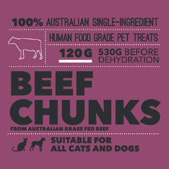 Loyalty Pet Treats Beef Chunks Packaging