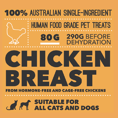 Loyalty Pet Treats Chicken Breast Treats (70g) - 20, Cats, Dogs, Loyalty Pet Treats, Treats - Vanillapup - Online Pet Shop