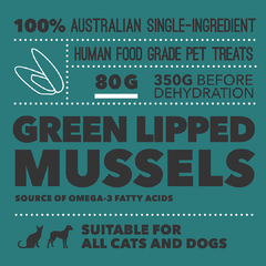 Loyalty Pet Treats Green-lipped Mussels Treats (80g) - Shop Vanillapup Online Pet Shop