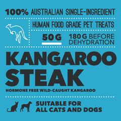 Loyalty Pet Treats Kangaroo Steak Treats (50g) - Cats, Dental, Dogs, Health, Latte, Loyalty Pet Treats, Treats - Shop Vanillapup - Online Pet Shop