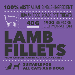Loyalty Pet Treats Lamb Fillet Treats (40g) - Cats, Dogs, Loyalty Pet Treats, Treats - Shop Vanillapup - Online Pet Shop