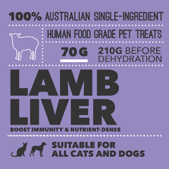 Loyalty Pet Treats Lamb Liver Mini Packaging