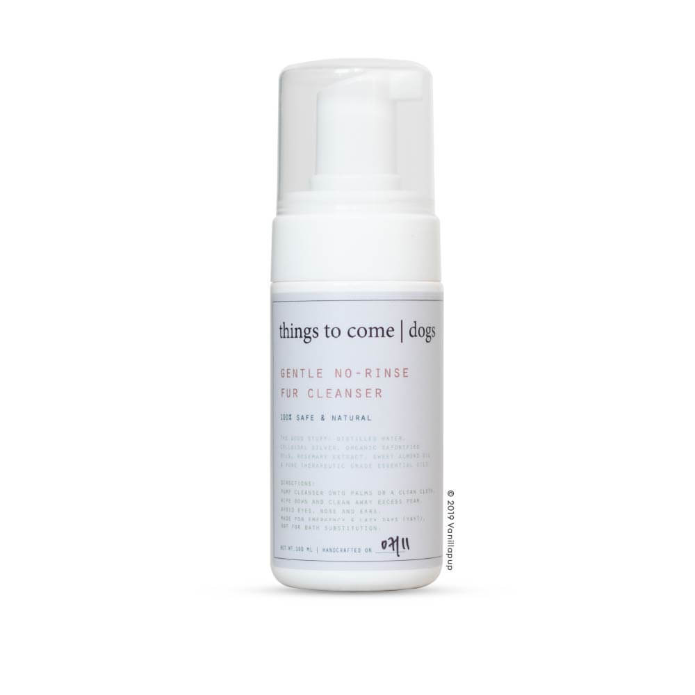 things to come Gentle No-Rinse Fur Cleanser No. 1 (100ml) - 20, Dogs, Grooming Essentials, Latte, Starter Pack, things to come - Vanillapup - Online Pet Shop