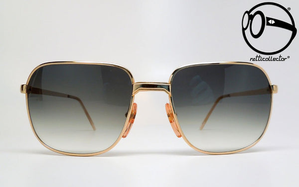 bartoli primus cb mod 129 gold plated 22kt blk 60s Vintage sunglasses no retro frames glasses