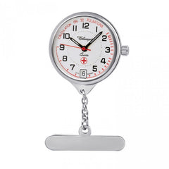 Nurses Rhodium Swiss Quartz Fob Watch