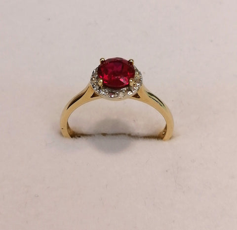 9ct Ruby and Diamond Ring R2042