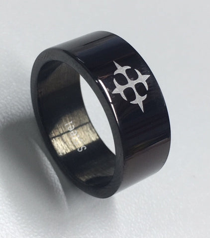 Stainless Steel Black Gents Ring