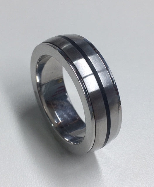 Stainless Steel Spinner Gents Ring