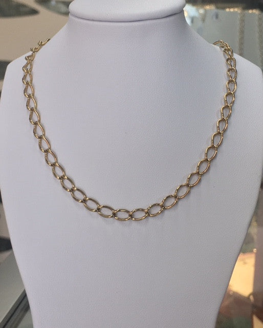 Yellow Gold Long Link Curb Chain