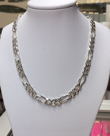 50Cm Sterling Silver 3+1 Link Chain