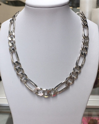 50Cm Sterling Silver 3+1 Heavy Link Chain