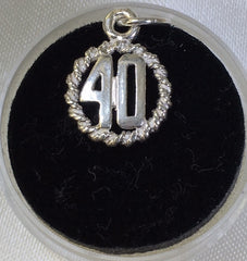 Sterling Silver 40 Charm