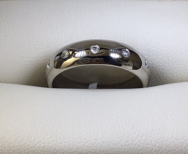 Handmade Palladium And Diamond Wedder