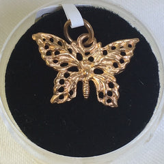 9Ct Rose Gold Butterfly Charm