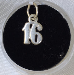 Sterling Silver 16 Charm