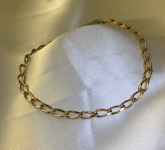 9Ct Yellow Gold Open Curb Link Bracelet
