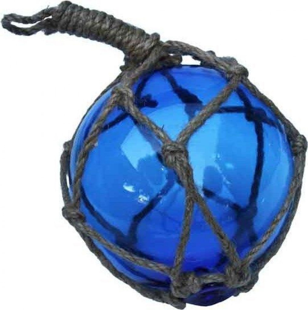 Dark Blue Hanging Glass Ball On Rope