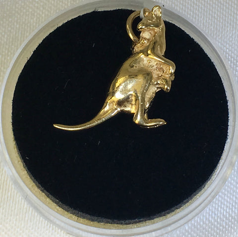 9Ct Yellow Gold Kangaroo Charm
