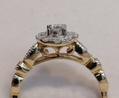 9ct 0.40ct TDW 9ct Halo Engagement Ring R2495