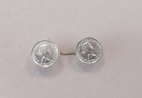 Sterling Silver Coin Stud G6156