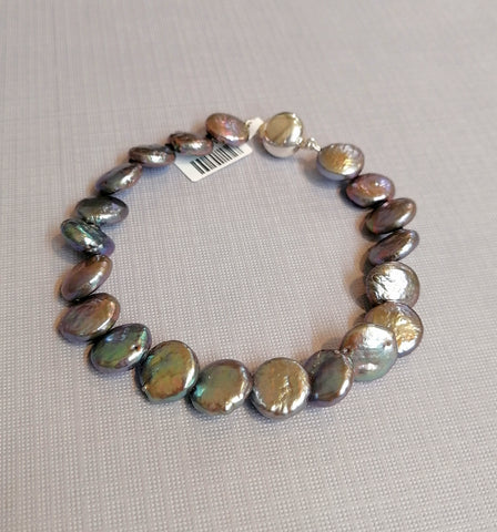 Grey/Purple Pearl Bracelet P1161