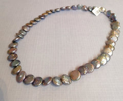 Grey/Purple Fresh Water Pearl Necklace P1159