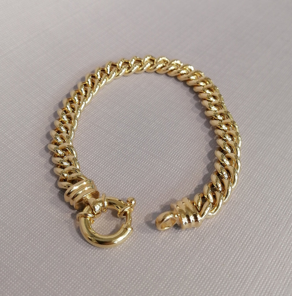 9ct Yellow Gold Curb Bracelet G5246