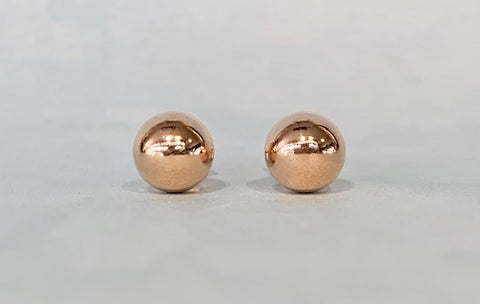 8mm Rose Gold Filled Ball Stud Earrings G4545