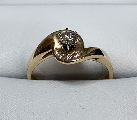 9CT YELLOW GOLD DIAMOND ENGAGEMENT RING 0.25CT TDW