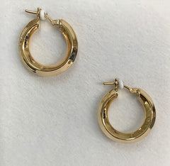 9Ct Yellow Gold 20X4Mm Knife Edge Hoop Earrings