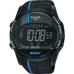 PULSAR MENS DIGITAL 100M SPORTS WATCH