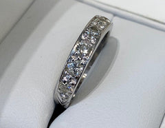 9ct White Gold Diamond Eternity Ring 0.70ct TDW R2705
