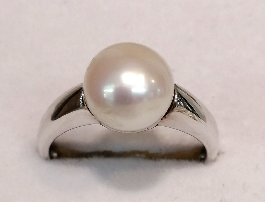 Silver Pearl Ring G5238