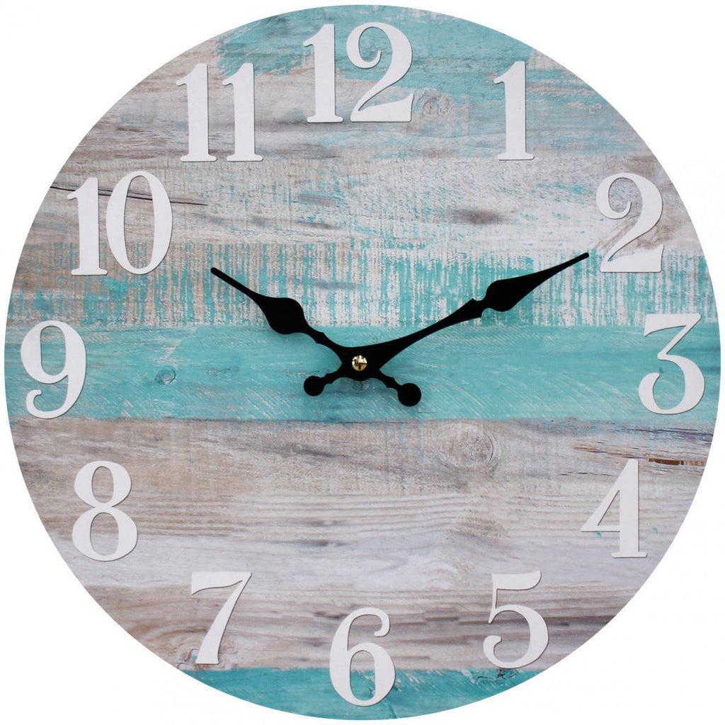 Blue And White Board Wall Clock