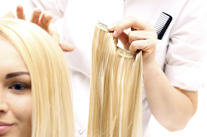 How long does it take to fit clip in hair extensions and how?