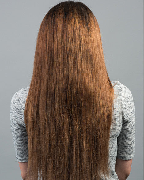 #6 Light Brown Clip In Hair Extensions; 20 inch, 230g