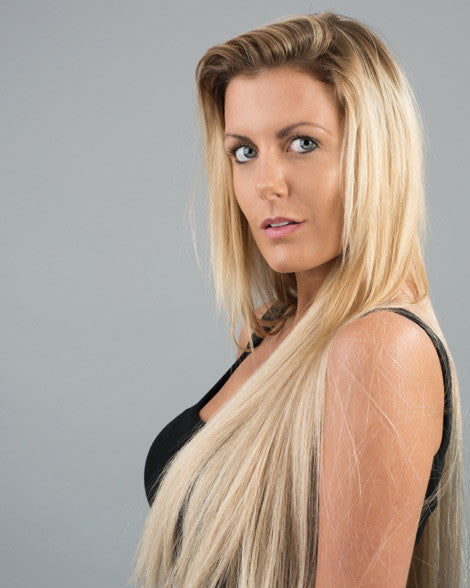 #60 Ash Blonde Clip In Hair Extensions; 20 inch, 175g