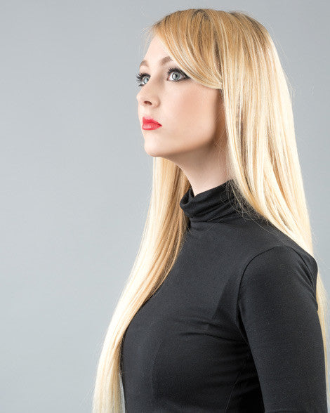 #613 Bleach Blonde Clip In Hair Extensions; 20 inch, 175g