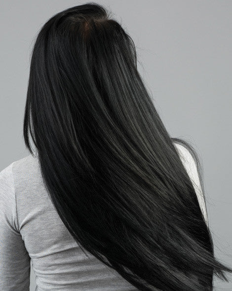 #1 Jet Black Clip In Hair Extensions; 20 inch, 175g