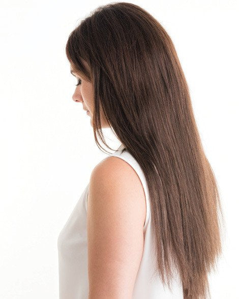 #2 Dark Brown Clip In Hair Extensions; 20 inch, 115g
