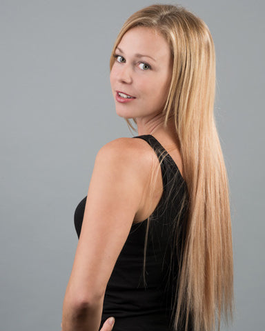 #1 Jet Black Clip In Hair Extensions; 20inch, 230g