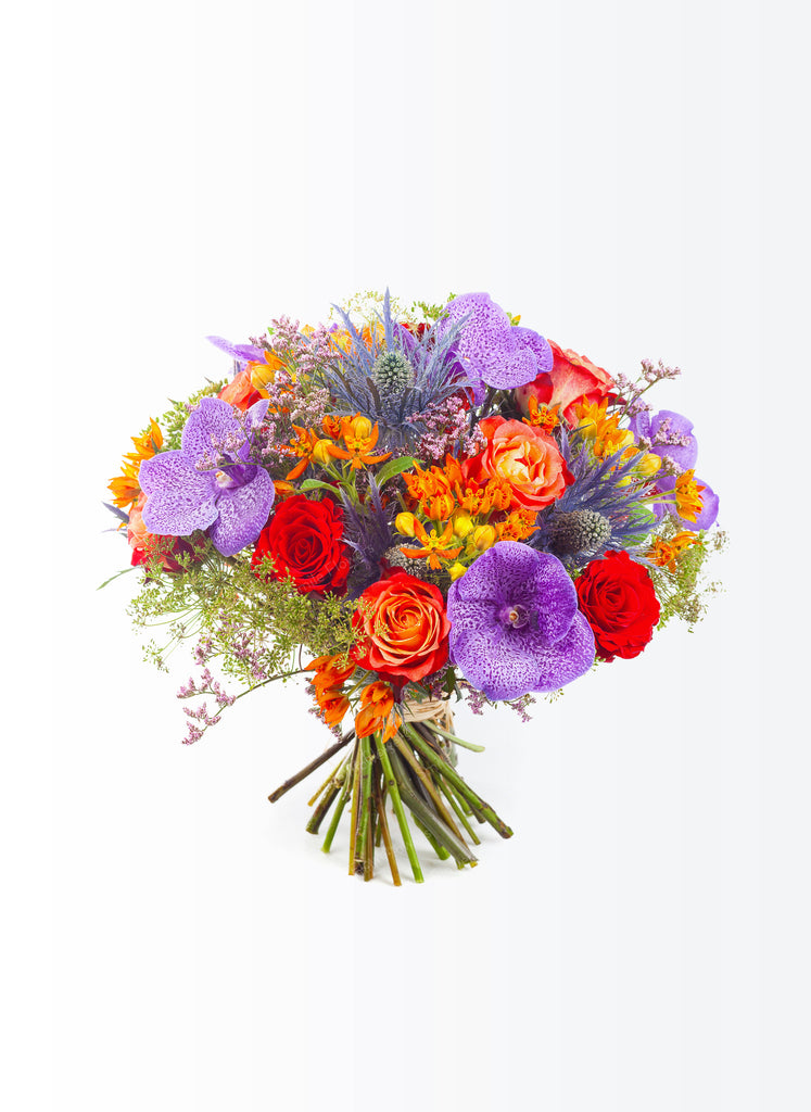 "Bright  flower bouquet with ""Vanda"" orchids"