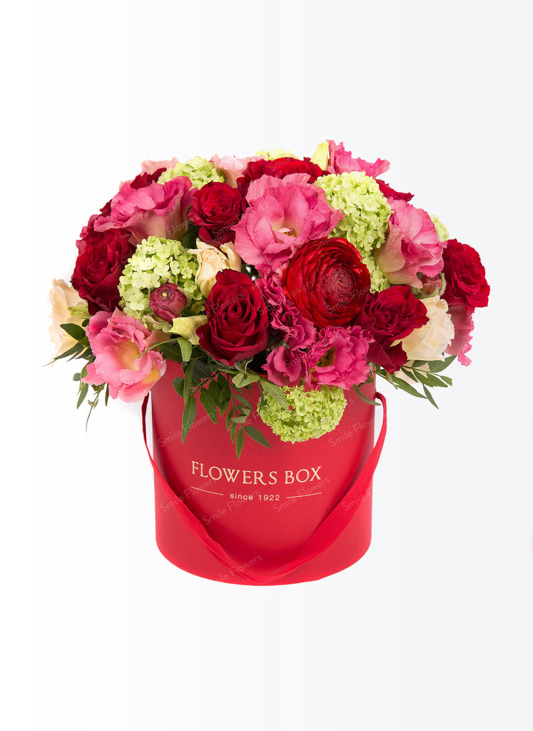Bright color flower box
